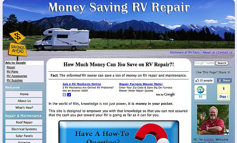 Money-Saving-RV-Repair.com picture by Kevin Morton and Tucker Warford